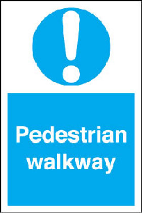 Pedestrian Walkway Sign/Sticker