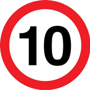 Speed Limit - 10 Sign