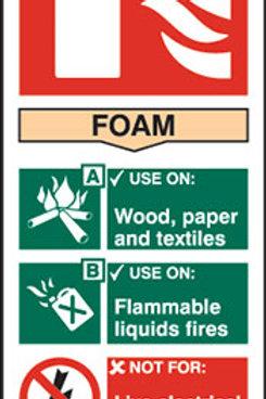 Fire Extinguisher - Foam Sign/Sticker