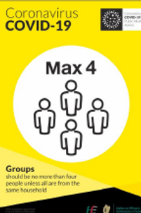 Max 4 people Covid 19 Sign