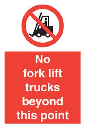 No Forklift Trucks Beyond This Point Sign/Sticker