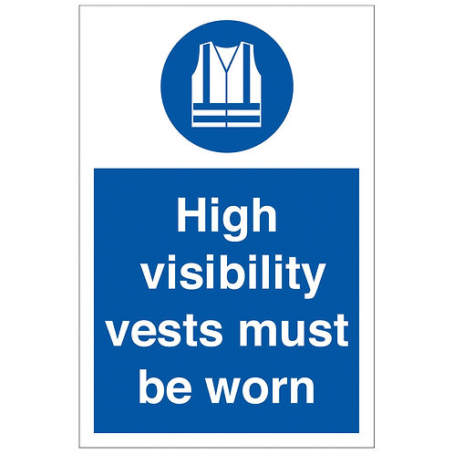 High Visibility Vest Must Be Worn Sign/Sticker