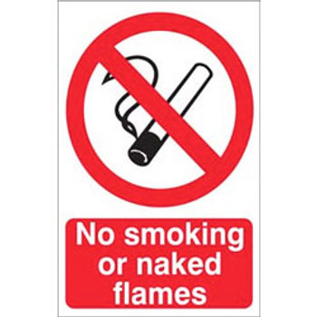 No Smoking Or Naked Flame Sign/Sticker