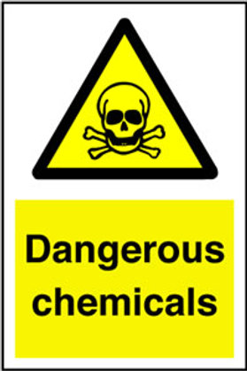 Dangerous Chemicals Sign/Sticker
