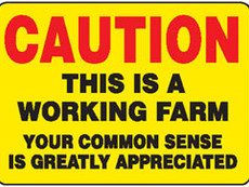 The importance of Safety Signs on the Farm