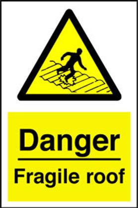 Danger Fragile Roof Sign/Sticker