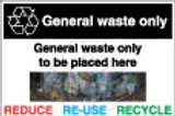 General Waste only Sign/Sticker