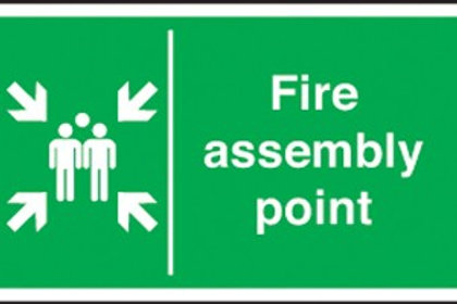 Fire Assembly Point - Arrowed
