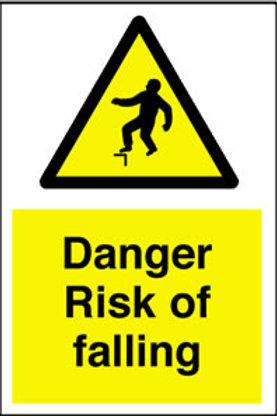 Danger Risk Of Falling Sign/Sticker