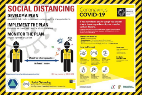 Social Distancing Make A Plan Safety Sign