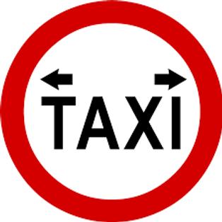 Taxi Area/Rank Keep Clear Sign