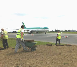 Laying New Grass at Dublin Airport