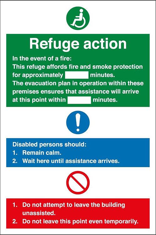 Refuge Action Sign/Sticker