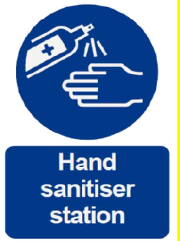 Hand Sanitiser Station Sign
