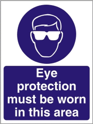Eye Protection Must be Worn Sign/Sticker