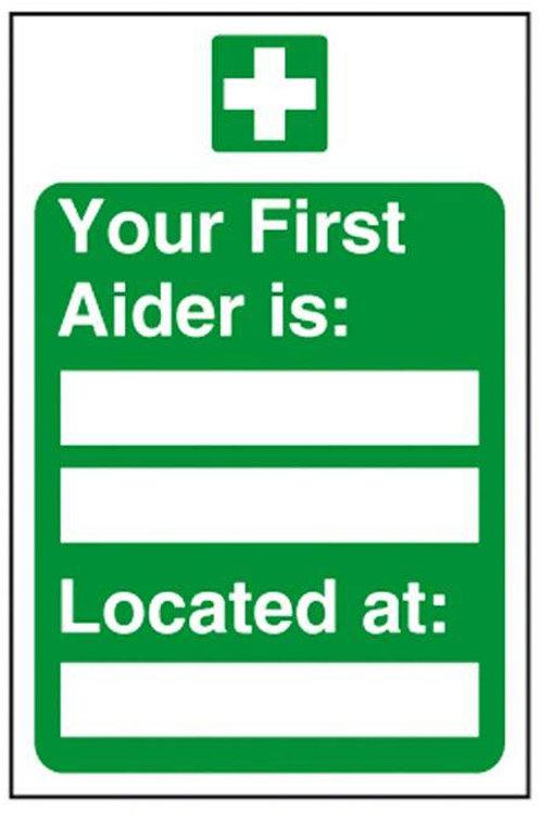 First Aider Sign/Sticker