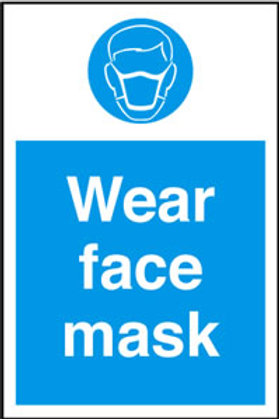 Wear face mask Sign/Sticker
