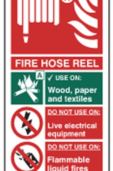 Fire Hose Reel Sign/Sticker