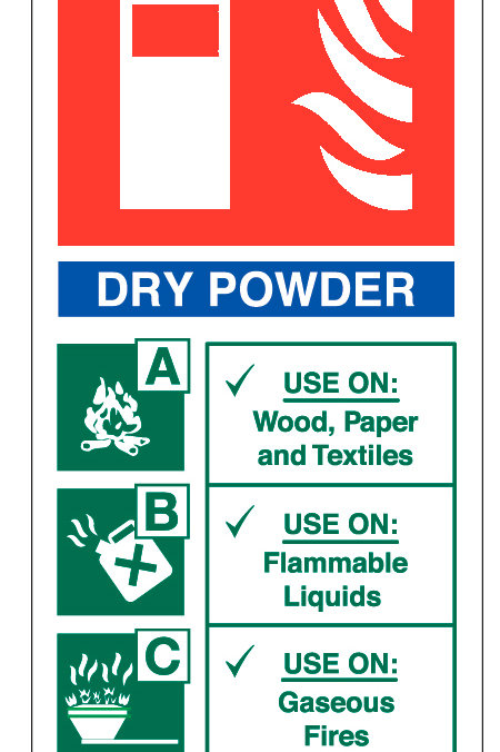 Fire Extinguisher - Dry Powder Sign/Sticker
