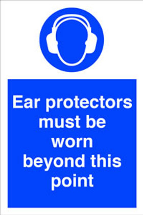 Ear Protection Worn Beyond This Point Sign/Sticker