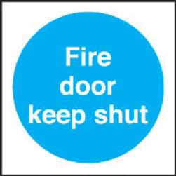 Fire Door Keep Shut Sign/Sticker