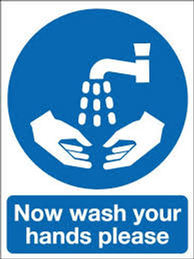 Now Wash Your Hands Sign/Sticker