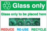 Glass Only Sign/Sticker
