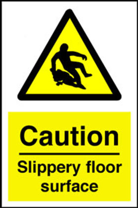 Slippery Floor Surface Sign/Sticker