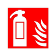 Fire Extinguisher Symbol Sign - PVC - Varying Size