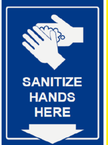Sanitise hands here Sign (sanitize hands here sign)