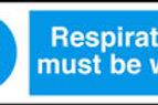 Respirators Must Be Worn Sign/Sticker