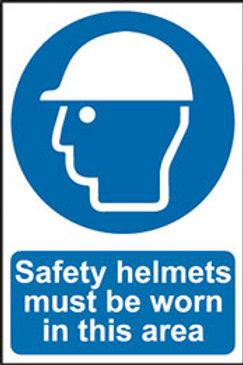 Safety Helmets Must Be Worn Sign/Sticker