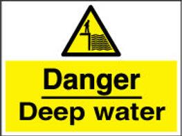 Danger Deep Water Sign/Sticker
