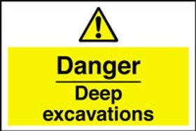 Danger Deep Excavations Sign/Sticker