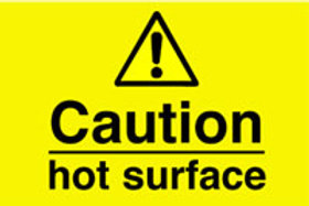 Caution Hot Surface Sign/Sticker