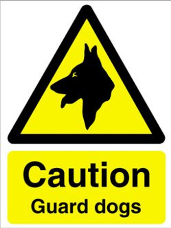 Warning Guard Dogs Sign/Sticker
