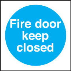 Fire Door Keep CLOSED Sign/Sticker