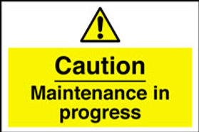 Maintenance In Progress Sign/Sticker