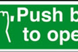Push bar to open Sign/Sticker