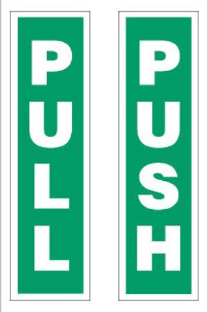 Push Pull Pair Signs/Sticker