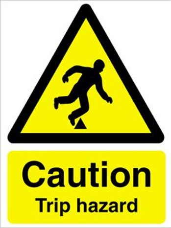 Caution Trip Hazard Sign/Sticker