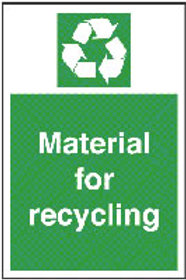 Material For Recycling Sign/Sticker