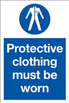 Protective Clothing Must Be Worn /PPE Sign/Sticker