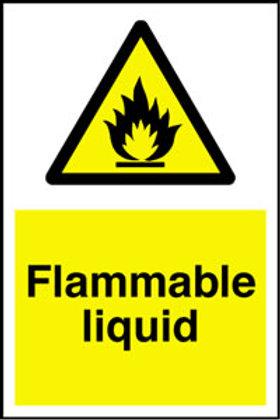 Flammable Liquid Sign/Sticker