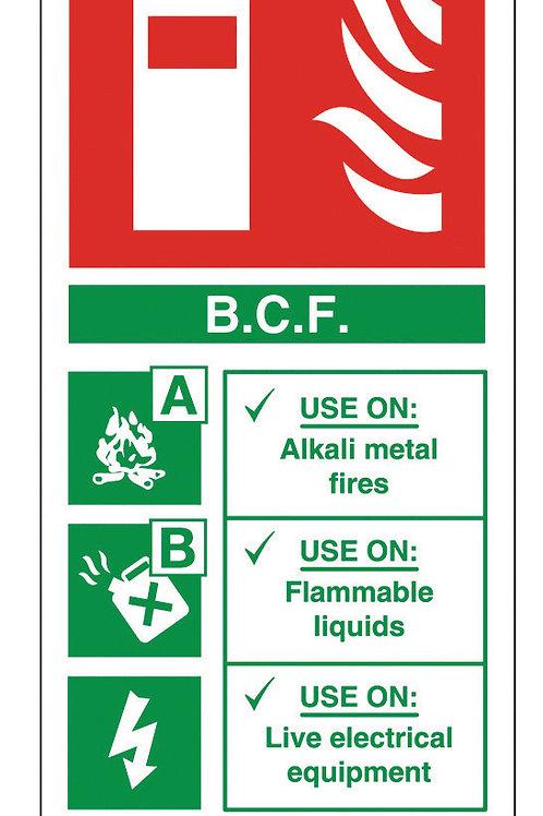 Fire Extinguisher - BCF Sign/Sticker
