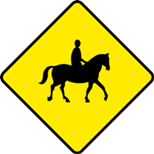 Horses Danger Sign