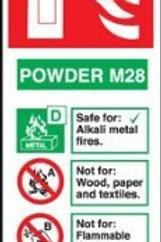 Fire Extinguisher - Powder M28 Sign/Sticker