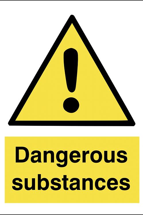 Dangerous Substances Sign/Sticker