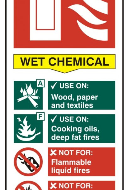 Fire extinguisher CHEMICAL Sign/Sticker