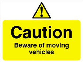 Caution Moving Vehicles Sign/Sticker